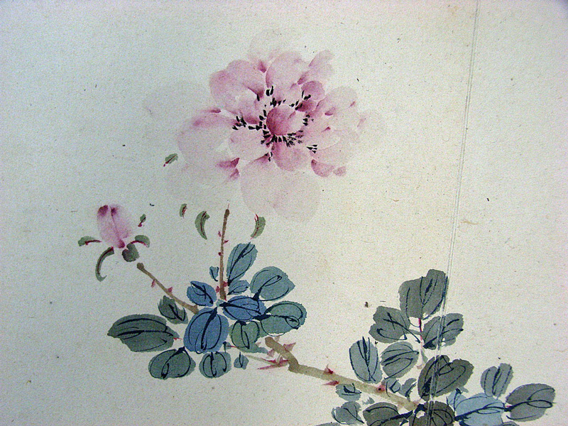 Yamamoto Baiitsu/Book of Pictures of Flowers on fans/Early