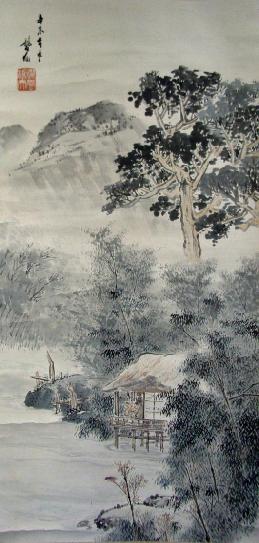 仁林聾仙 山水図