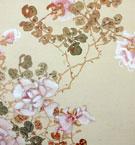 野原桜州、橋本海関 薔薇に小禽図