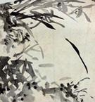 江馬細香 墨竹図(扇面)